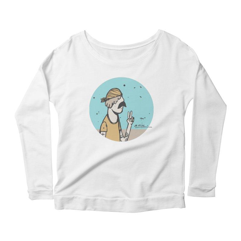 Mikey Women's Scoop Neck Longsleeve T-Shirt by Alwrath's Artist Shop