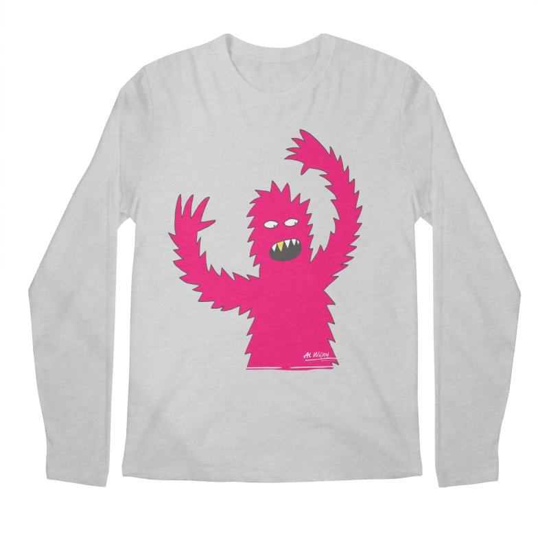 Happy Monster Men's Regular Longsleeve T-Shirt by Alwrath's Artist Shop