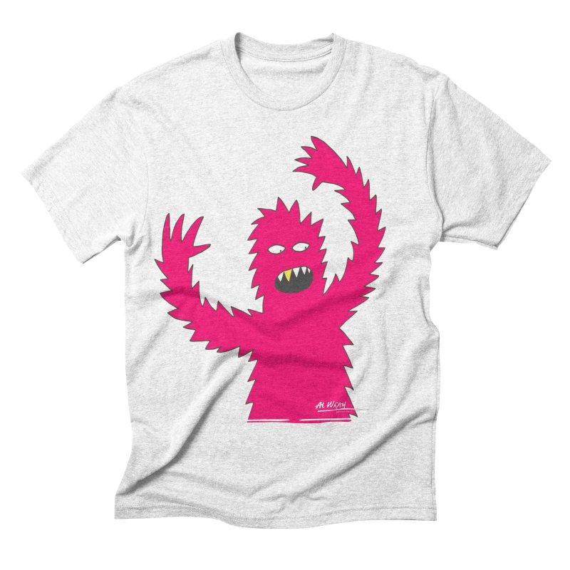 Happy Monster Men's Triblend T-shirt by Alwrath's Artist Shop