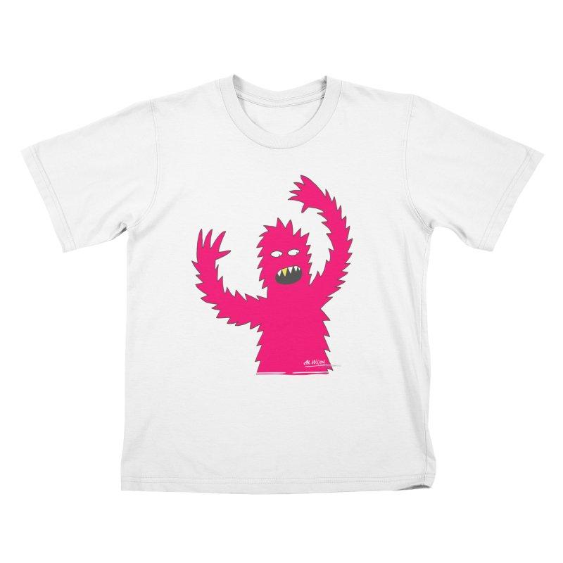 Happy Monster Kids T-Shirt by Alwrath's Artist Shop