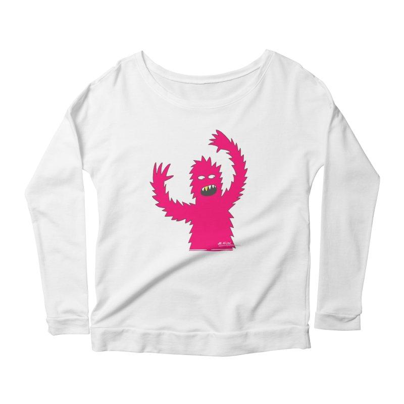 Happy Monster Women's Scoop Neck Longsleeve T-Shirt by Alwrath's Artist Shop