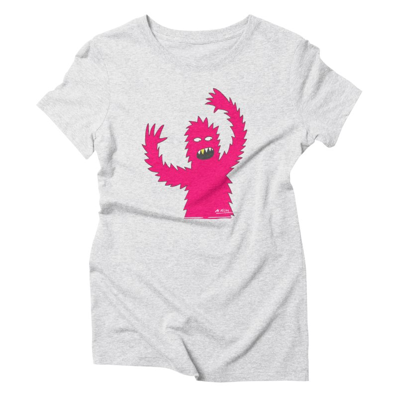 Happy Monster Women's Triblend T-shirt by Alwrath's Artist Shop