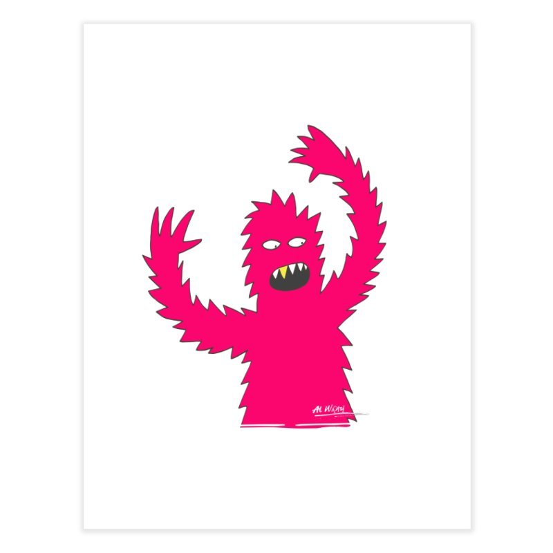 Happy Monster Home Fine Art Print by Alwrath's Artist Shop