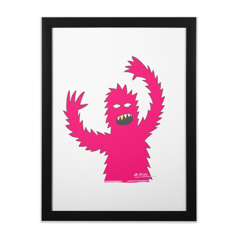 Happy Monster Home Framed Fine Art Print by Alwrath's Artist Shop
