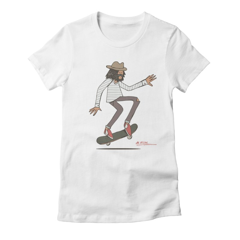Olly Women's Fitted T-Shirt by Alwrath's Artist Shop