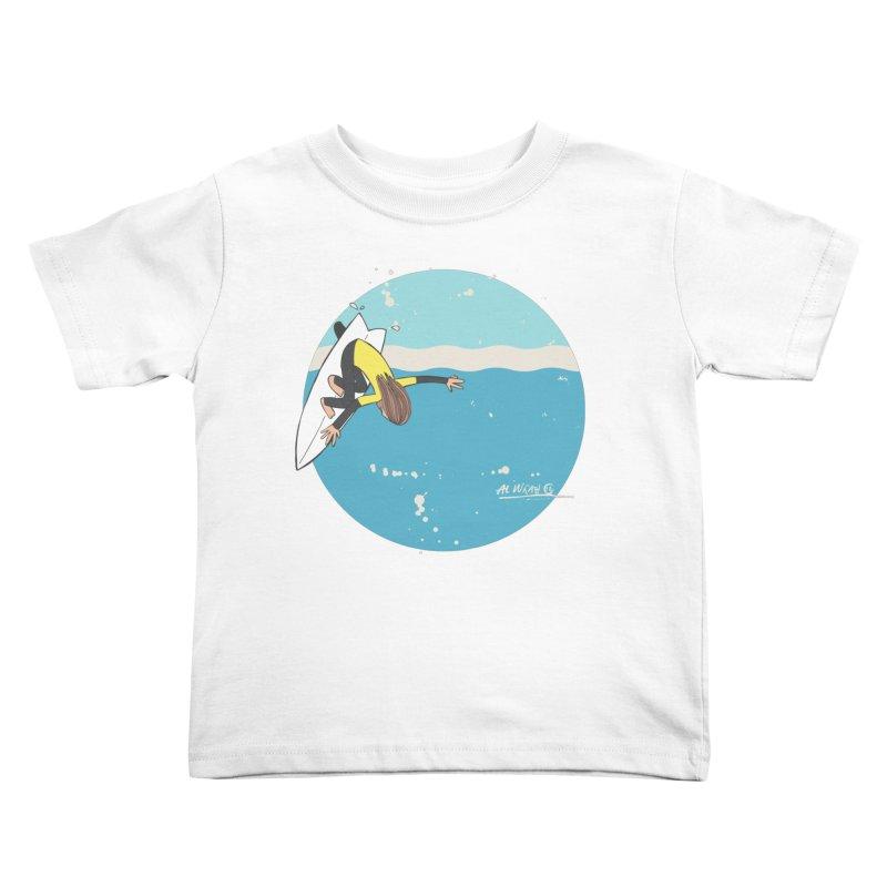 Wilko at Bells Kids Toddler T-Shirt by Alwrath's Artist Shop