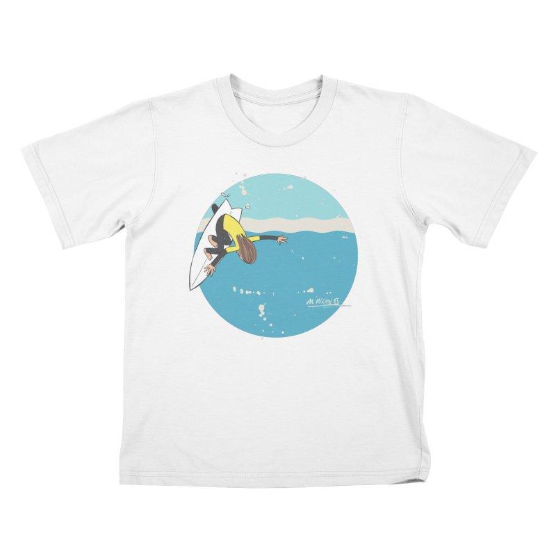 Wilko at Bells Kids T-Shirt by Alwrath's Artist Shop