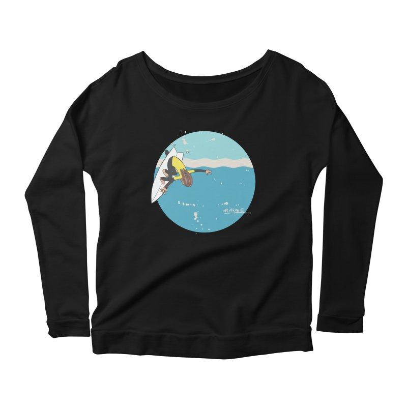 Wilko at Bells Women's Scoop Neck Longsleeve T-Shirt by Alwrath's Artist Shop