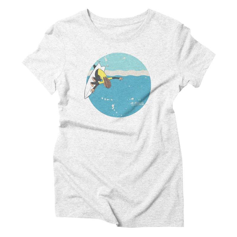 Wilko at Bells Women's Triblend T-shirt by Alwrath's Artist Shop