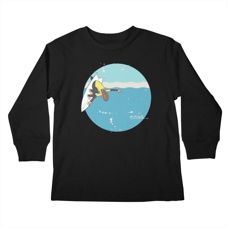 Wilko at Bells Kids Longsleeve T-Shirt by Alwrath's Artist Shop
