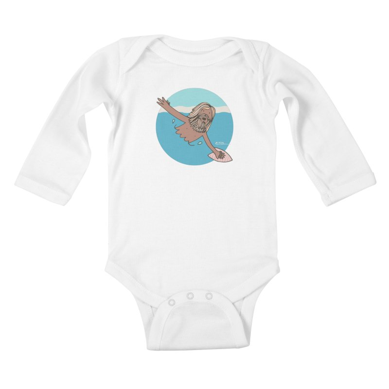 Straight Outta Whompton Kids Baby Longsleeve Bodysuit by Alwrath's Artist Shop