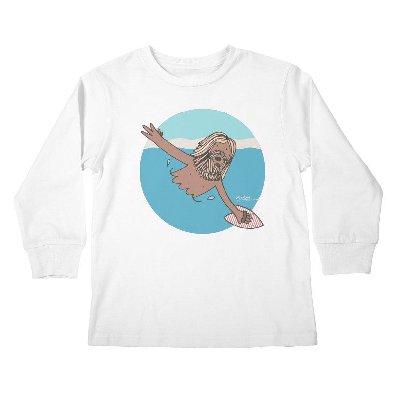 Straight Outta Whompton Kids Longsleeve T-Shirt by Alwrath's Artist Shop