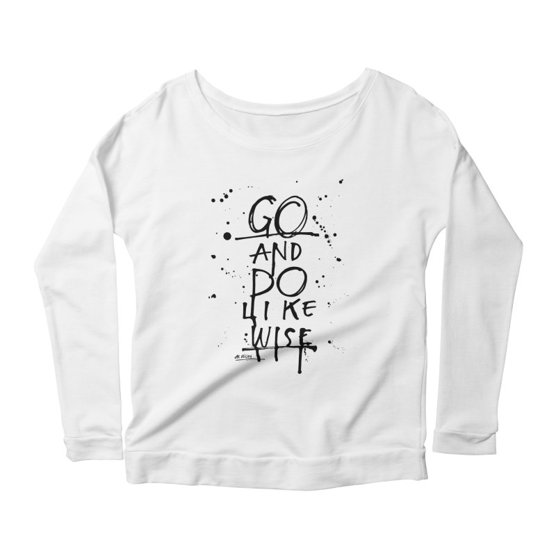 Likewise Women's Longsleeve Scoopneck  by Alwrath's Artist Shop