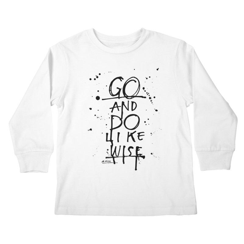 Likewise Kids Longsleeve T-Shirt by Alwrath's Artist Shop