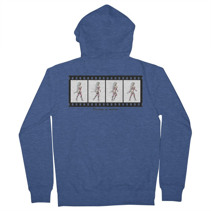 Dreamy in Motion Women's French Terry Zip-Up Hoody by AmandaHoneyland's Artist Shop