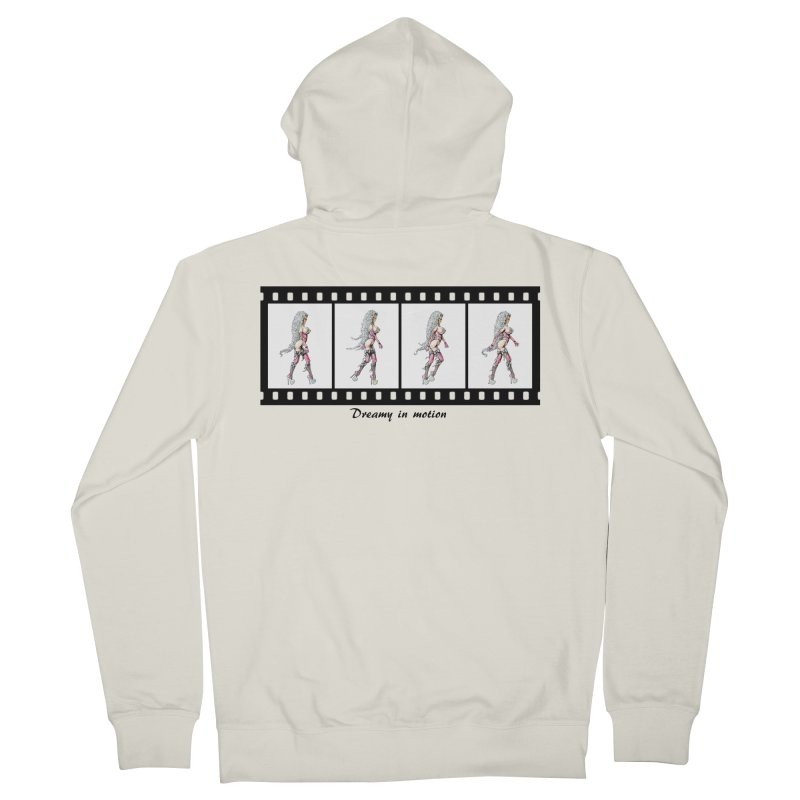 Dreamy in Motion Men's French Terry Zip-Up Hoody by AmandaHoneyland's Artist Shop