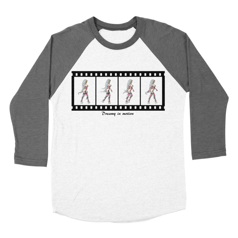 Dreamy in Motion Women's Baseball Triblend Longsleeve T-Shirt by AmandaHoneyland's Artist Shop