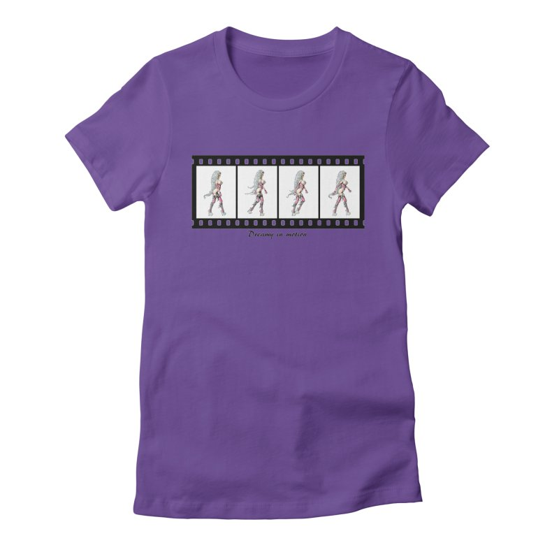 Dreamy in Motion Women's Fitted T-Shirt by AmandaHoneyland's Artist Shop