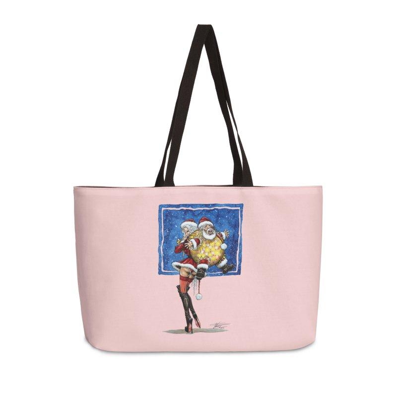 Spicy Xmas Accessories Weekender Bag Bag by AmandaHoneyland's Artist Shop