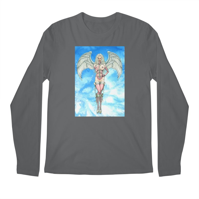 Angel Dreamy Men's Longsleeve T-Shirt by AmandaHoneyland's Artist Shop