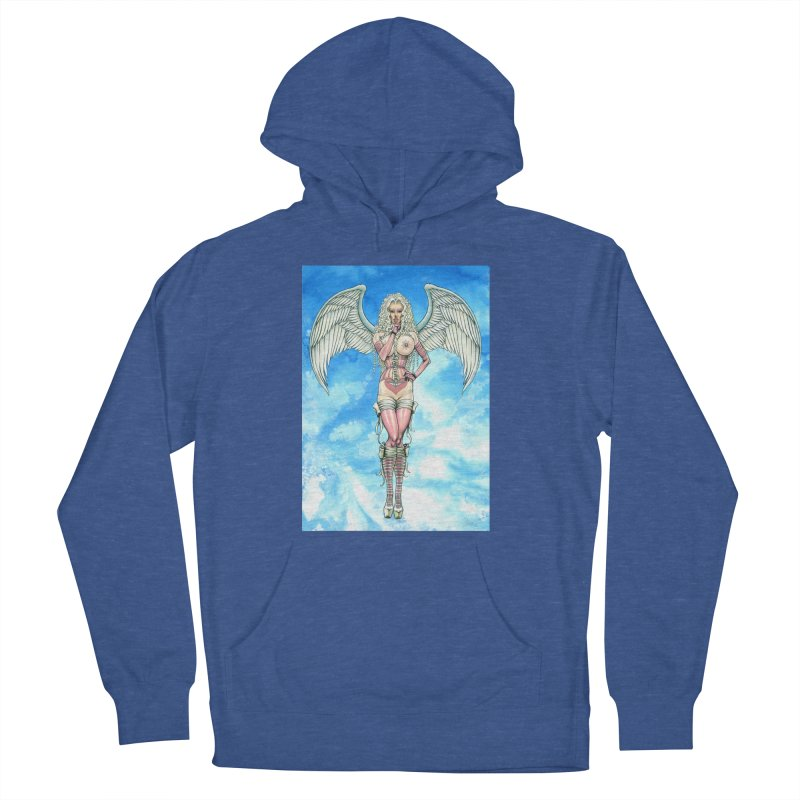 Angel Dreamy Men's French Terry Pullover Hoody by AmandaHoneyland's Artist Shop