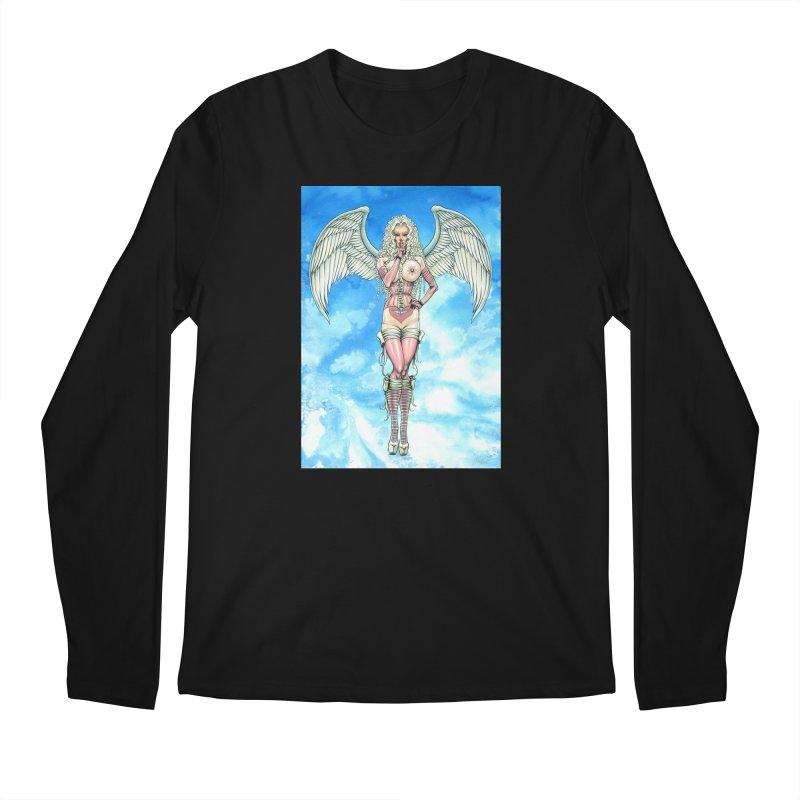 Angel Dreamy Men's Regular Longsleeve T-Shirt by AmandaHoneyland's Artist Shop