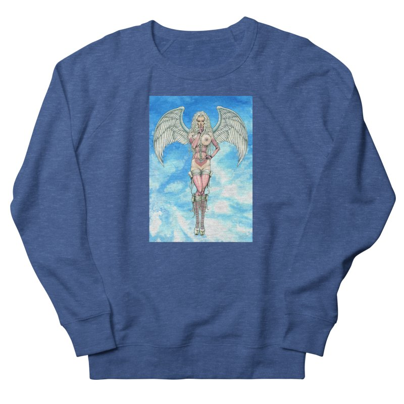 Angel Dreamy Women's French Terry Sweatshirt by AmandaHoneyland's Artist Shop