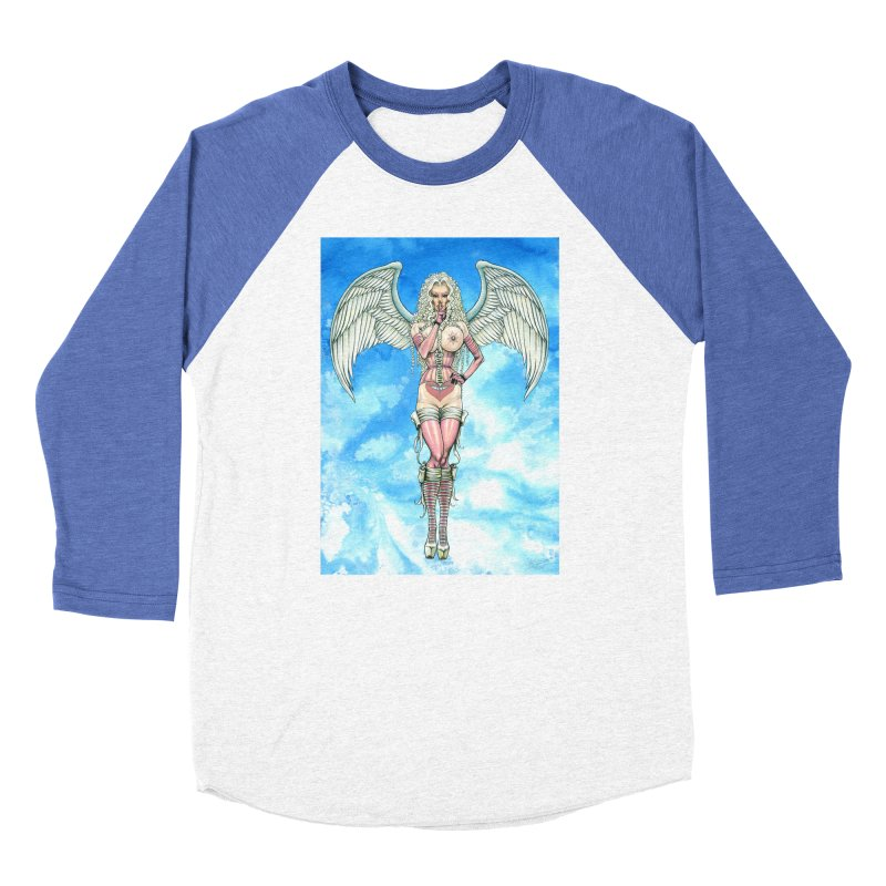 Angel Dreamy Women's Baseball Triblend Longsleeve T-Shirt by AmandaHoneyland's Artist Shop