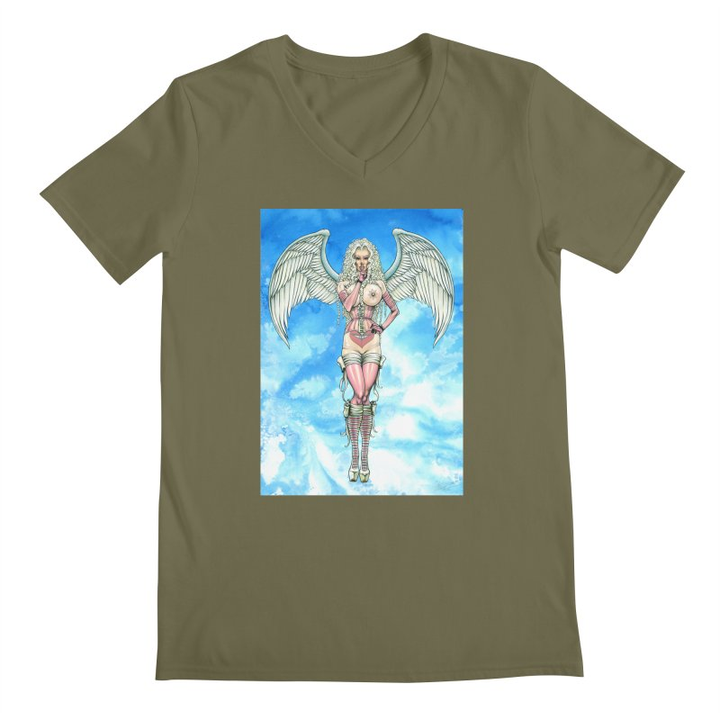 Angel Dreamy Men's Regular V-Neck by AmandaHoneyland's Artist Shop
