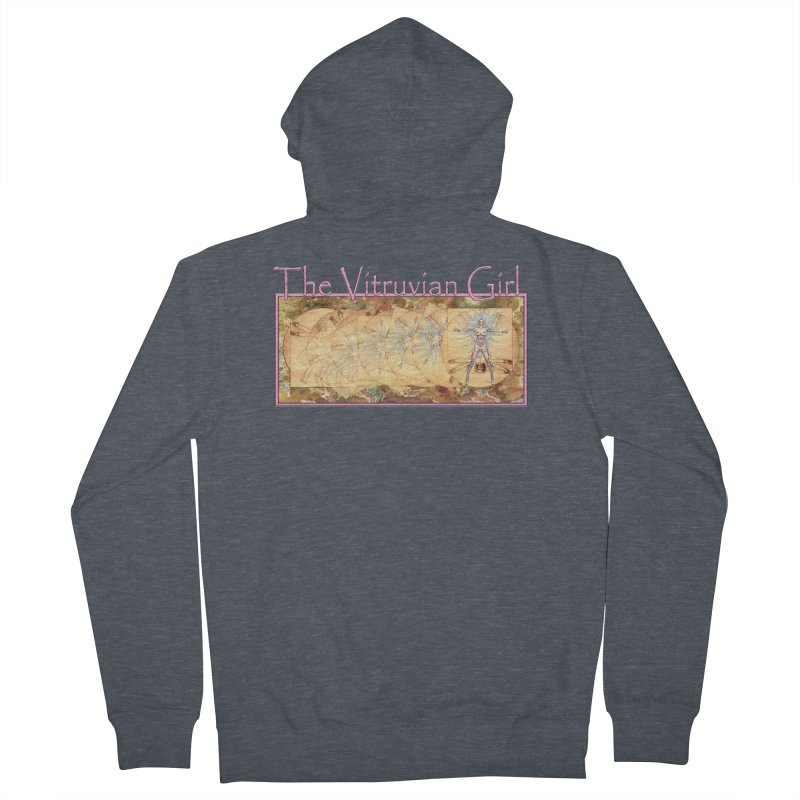 The Vitruvian Girl Women's French Terry Zip-Up Hoody by AmandaHoneyland's Artist Shop