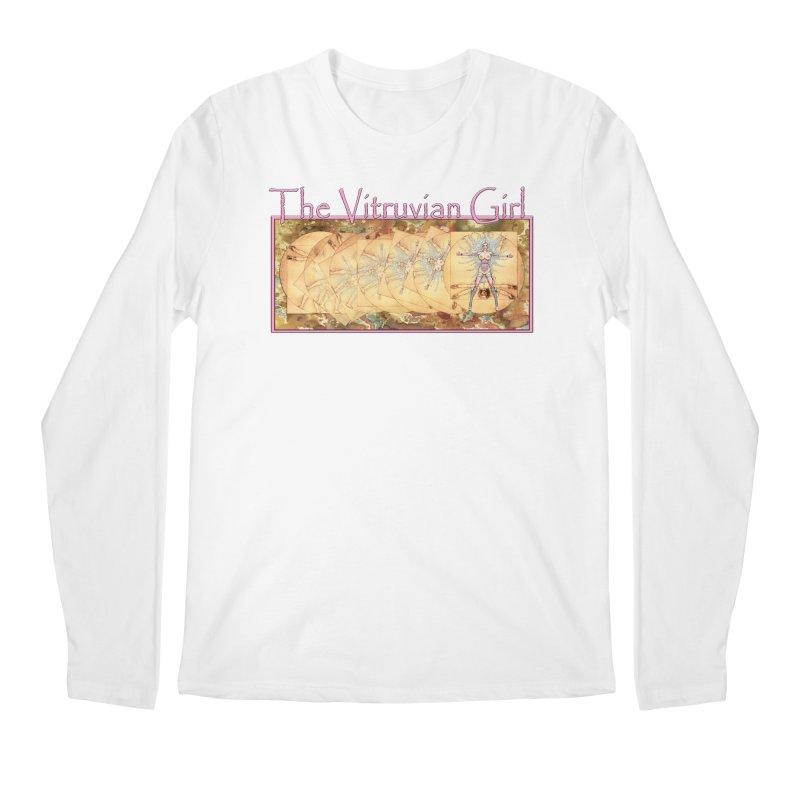 The Vitruvian Girl Men's Regular Longsleeve T-Shirt by AmandaHoneyland's Artist Shop