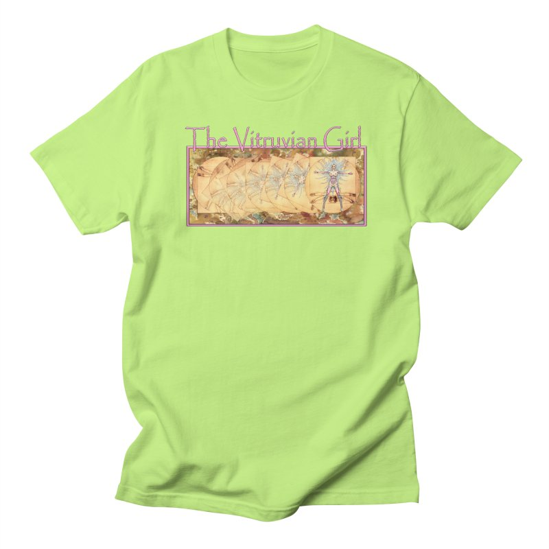 The Vitruvian Girl Men's Regular T-Shirt by AmandaHoneyland's Artist Shop