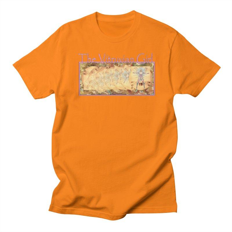 The Vitruvian Girl Men's Regular T-Shirt by AmandaHoneyland's Artist Shop