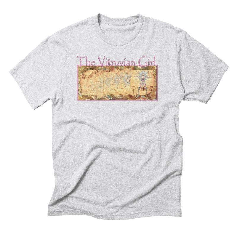 The Vitruvian Girl Men's Triblend T-Shirt by AmandaHoneyland's Artist Shop
