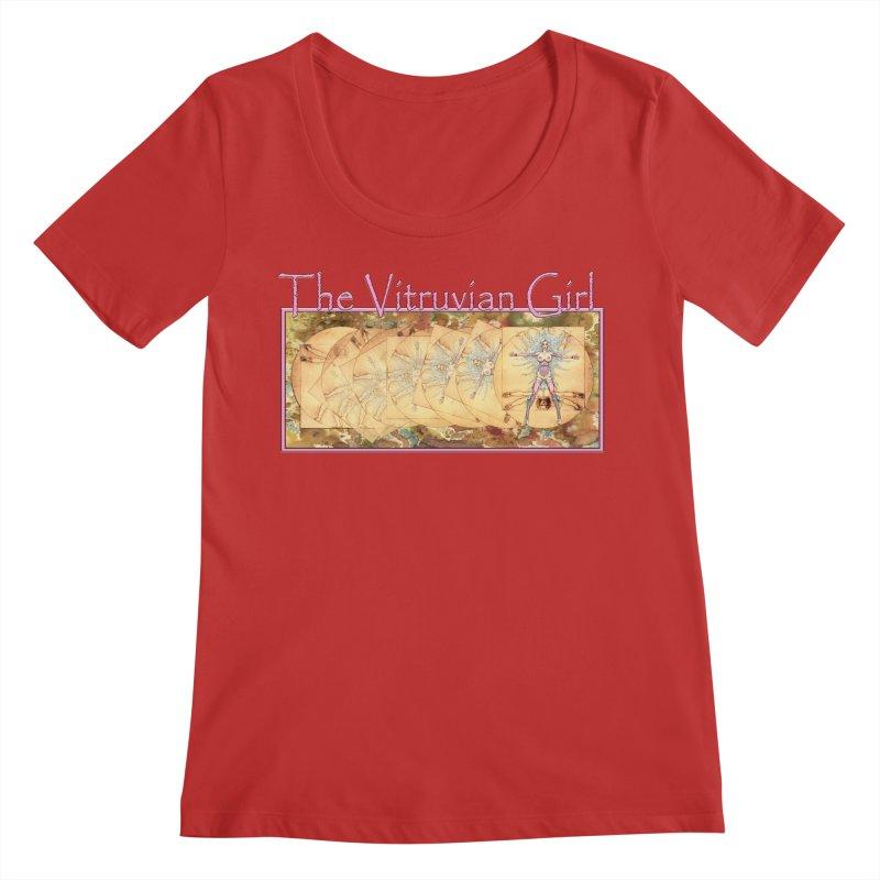 The Vitruvian Girl Women's Regular Scoop Neck by AmandaHoneyland's Artist Shop