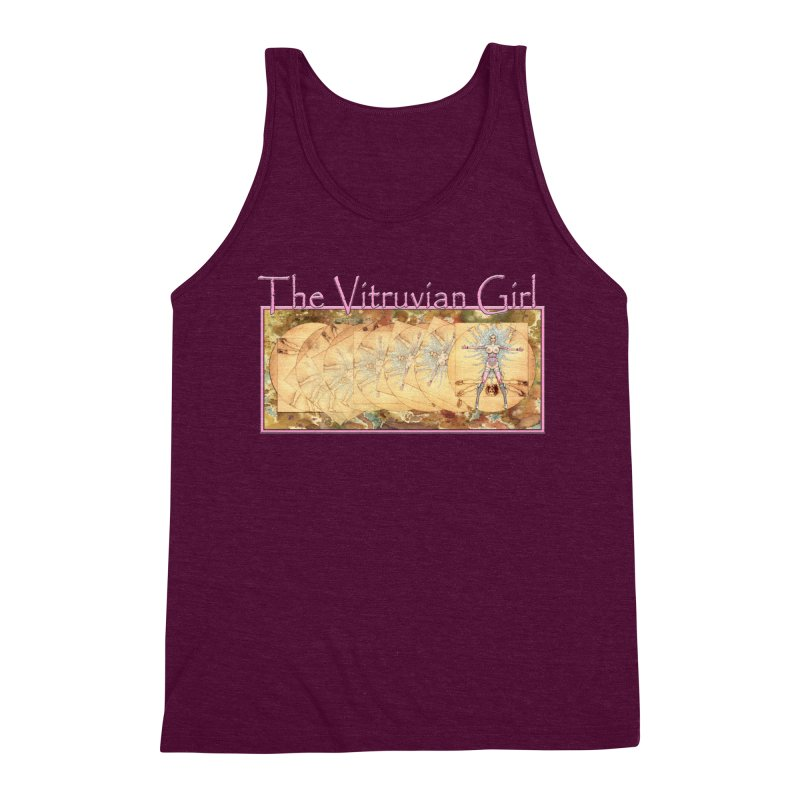 The Vitruvian Girl Men's Triblend Tank by AmandaHoneyland's Artist Shop