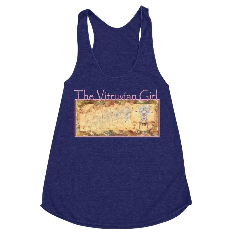 The Vitruvian Girl Women's Racerback Triblend Tank by AmandaHoneyland's Artist Shop