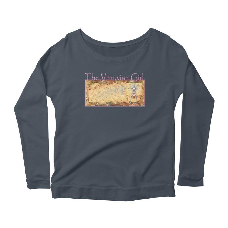 The Vitruvian Girl Women's Scoop Neck Longsleeve T-Shirt by AmandaHoneyland's Artist Shop
