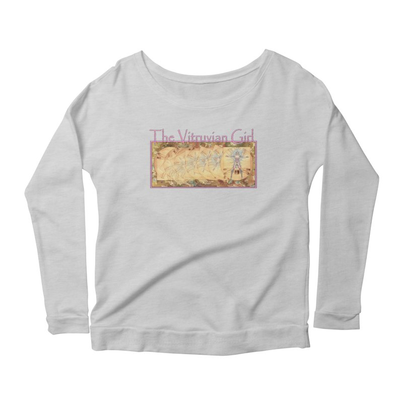 The Vitruvian Girl Women's Scoop Neck Longsleeve T-Shirt by AmandaHoneyland's Artist Shop