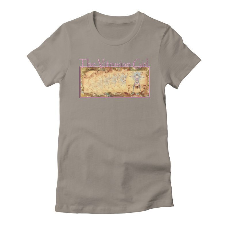 The Vitruvian Girl Women's Fitted T-Shirt by AmandaHoneyland's Artist Shop
