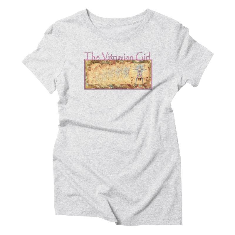 The Vitruvian Girl Women's T-Shirt by AmandaHoneyland's Artist Shop
