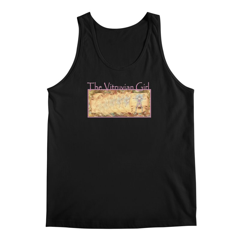 The Vitruvian Girl Men's Regular Tank by AmandaHoneyland's Artist Shop