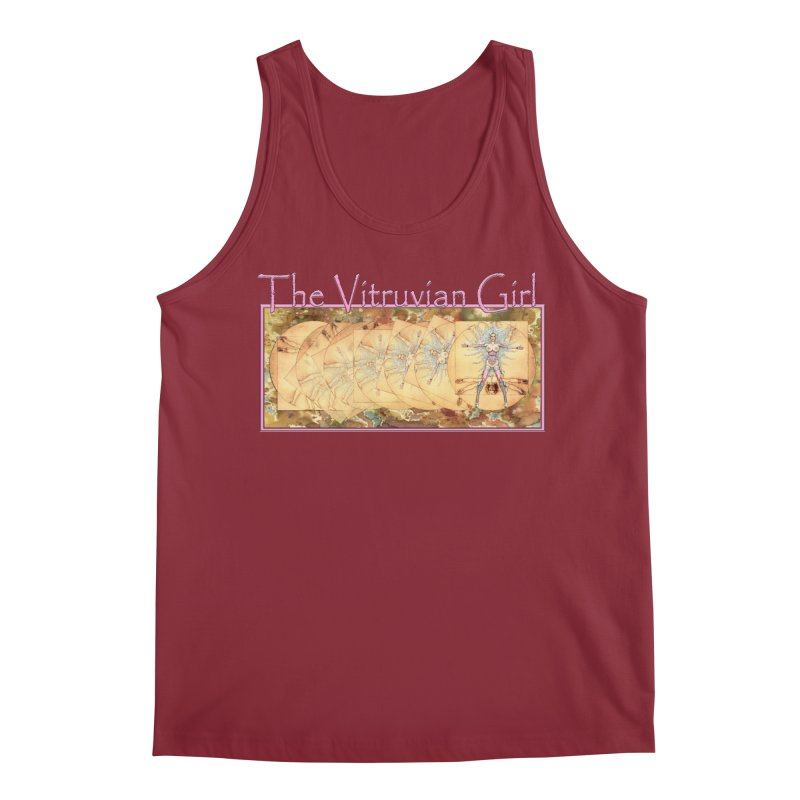 The Vitruvian Girl Men's Tank by AmandaHoneyland's Artist Shop