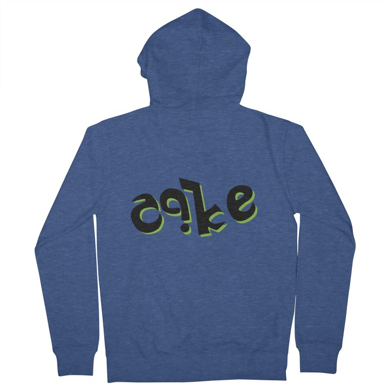 The Cake is Not True Men's Zip-Up Hoody by Ambivalentine's Shop