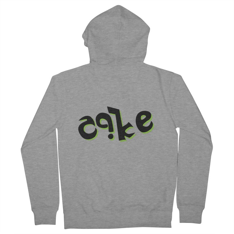 The Cake is Not True Men's French Terry Zip-Up Hoody by Ambivalentine's Shop