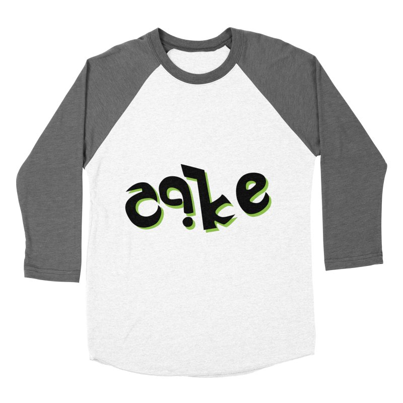 The Cake is Not True Men's Baseball Triblend Longsleeve T-Shirt by Ambivalentine's Shop