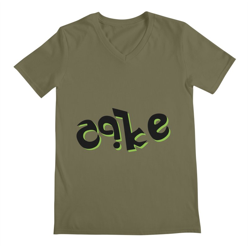 The Cake is Not True Men's V-Neck by Ambivalentine's Shop