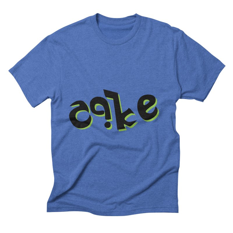 The Cake is Not True Men's Triblend T-shirt by Ambivalentine's Shop