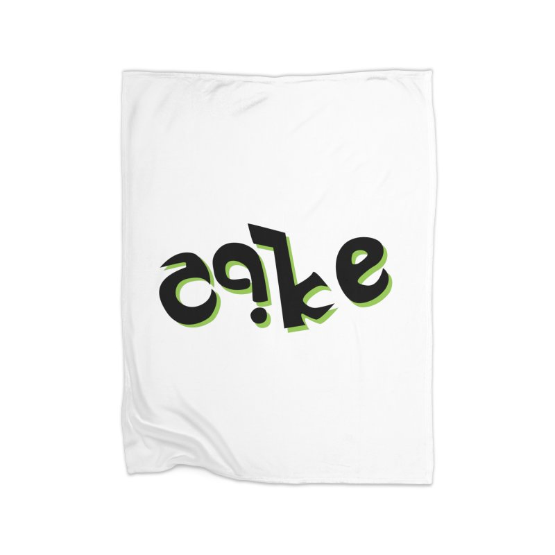 The Cake is Not True Home Fleece Blanket Blanket by Ambivalentine's Shop