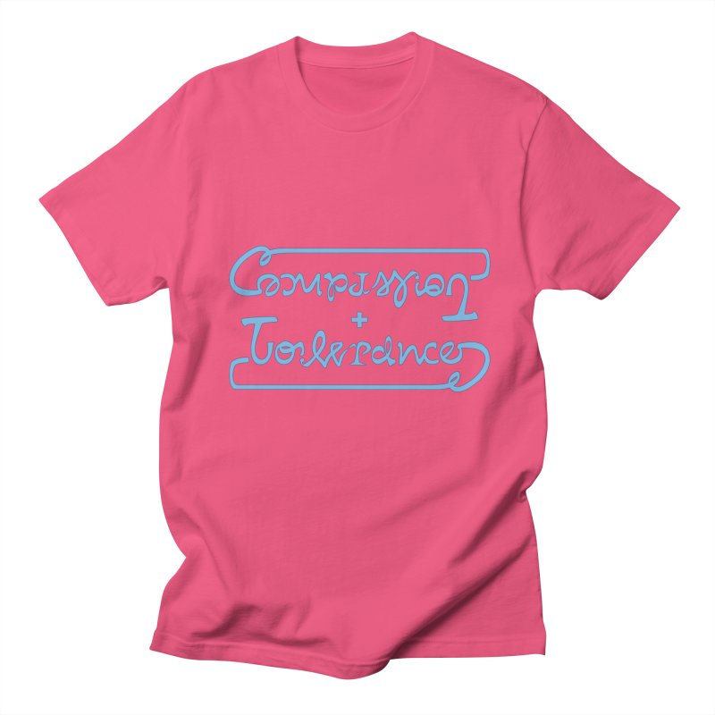 Compassion + Tolerance Men's T-shirt by Ambivalentine's Shop